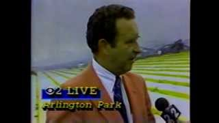Arlington Park Race Track Fire 1985  WBBM TV 2 News Report