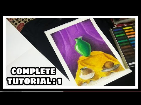How To Draw Still Life By Pastels Complete Tutorial For Elementary