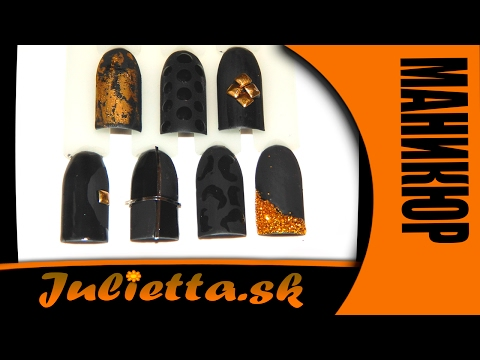 Дизайн ногтей на чёрном фоне (ч-1)