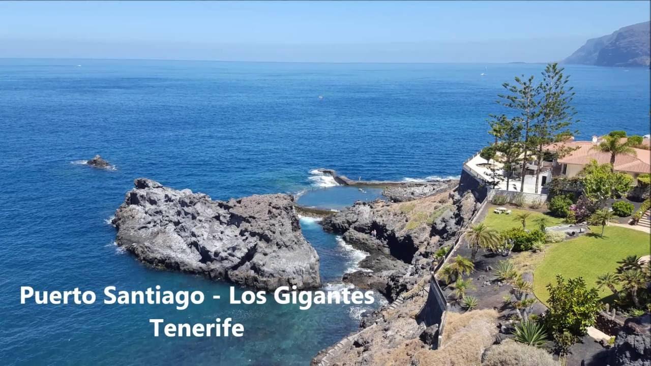 Playas de tenerife puerto santiago los gigantes islas canarias youtube - Puerto santiago tenerife mapa ...