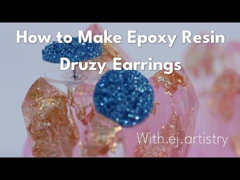Druzy Earrings with MakerPoxy