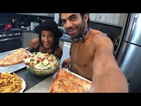 Grilled Cheese Pizza Mukbang with @bigjenni