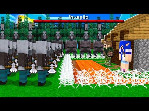 tentei proteger essa casa de uma invasão de Pillagers Minecraft!