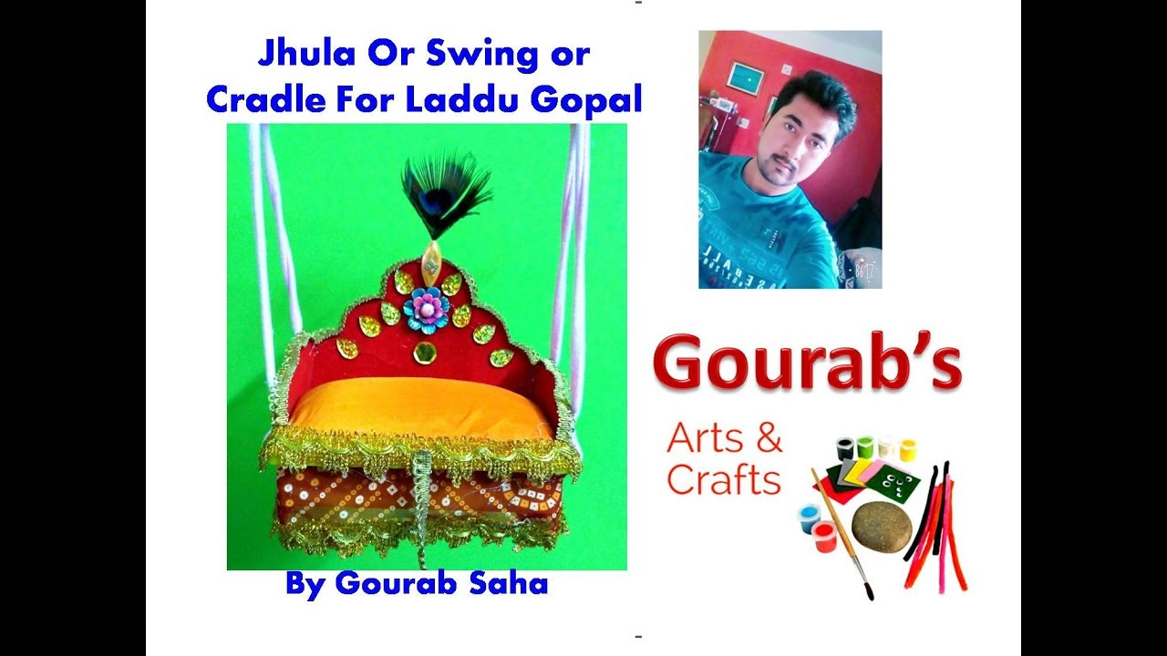 Diy ideas how to make jhula for bal gopal at home for How to make jhula at home