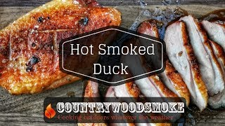 How to hot smoke duck on a weber 57 kettle bbq