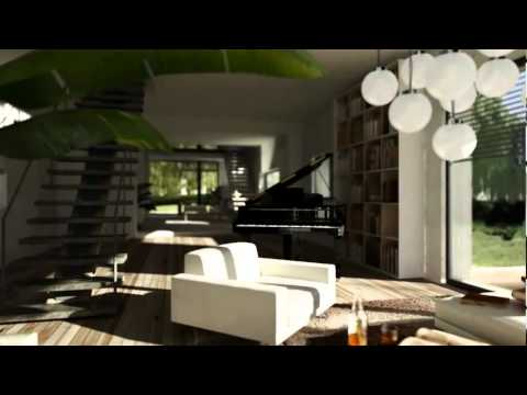 cinema 4d r13 arquitectura youtube. Black Bedroom Furniture Sets. Home Design Ideas