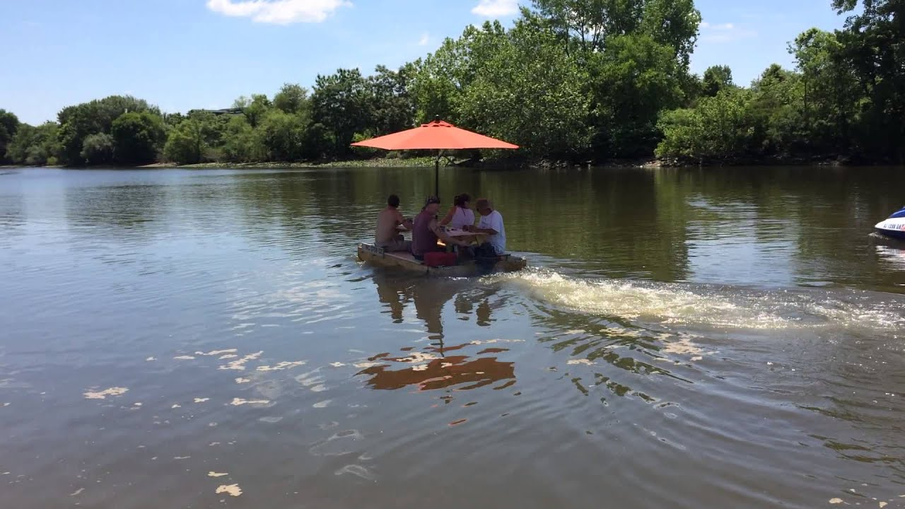 picnic table boat 09 - YouTube