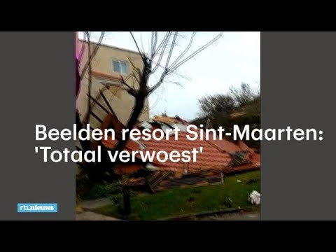 Koen (20) filmt compleet verwoest resort Sint Maarten - RTL NIEUWS