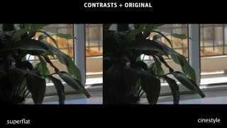 superflat vs tehnicolor cinestyle canon picture styles
