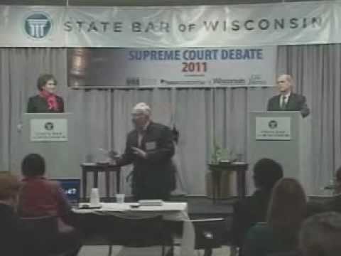 Wisconsin Supreme Court Debate - David Prosser and JoAnne Kloppenburg