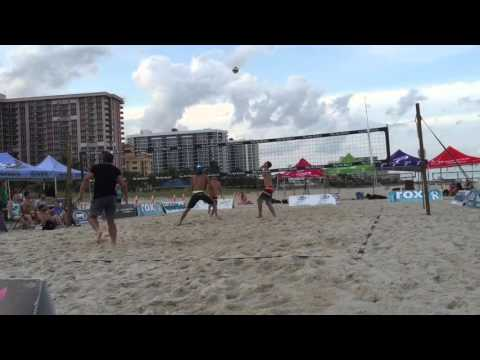 Plummer/Zaun Lorenz/Roberts Pompano beach  dig the beach 2016 final