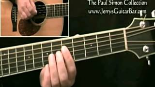 How To Play Paul Simon The Boy In The Bubble Introduction