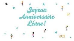♫ Joyeux Anniversaire Léane! ♫