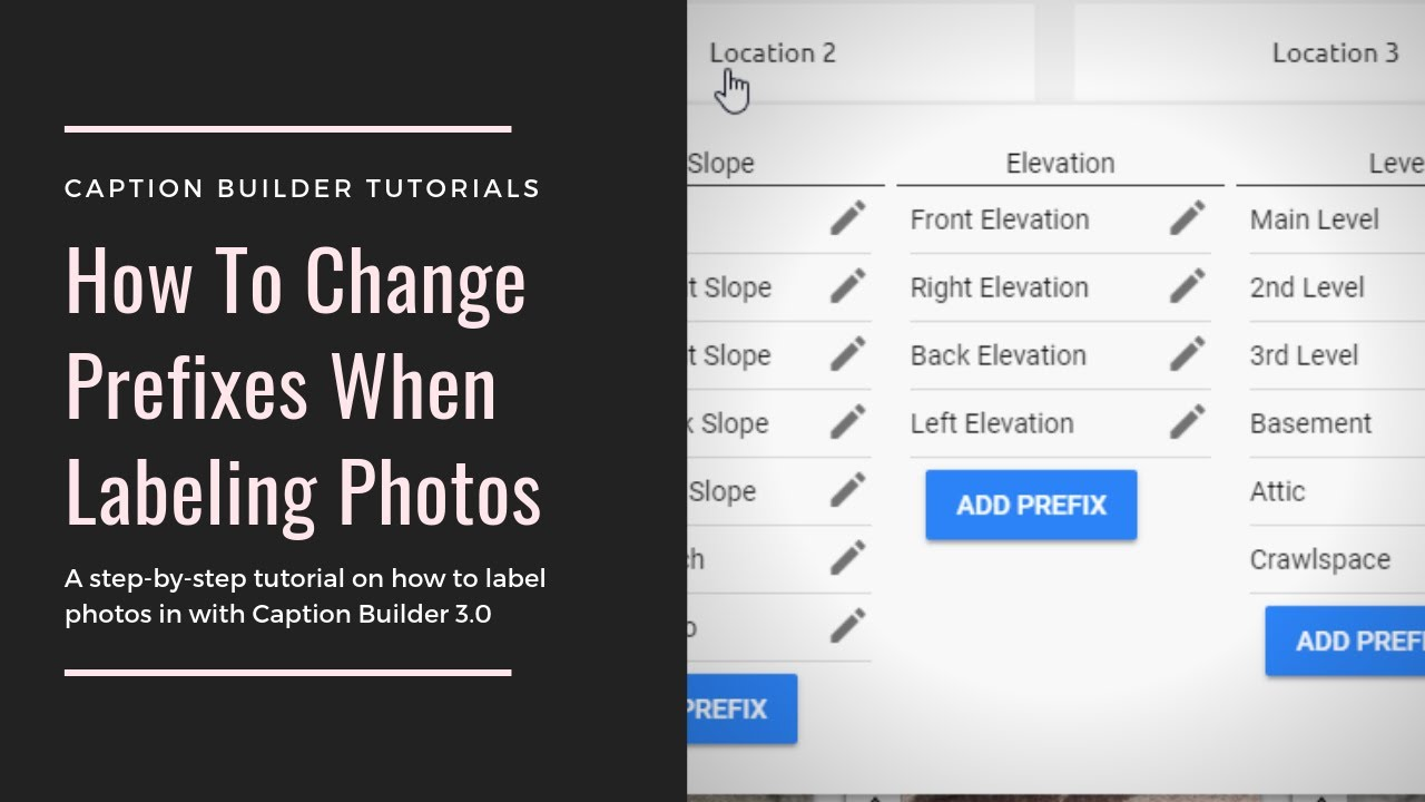 How to Change Prefixes when Labeling Photos - Scope Claims