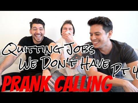 Prank Calling! Quitting Jobs We Don't Have Pt 4 ft Josh Leyva & Supereeego