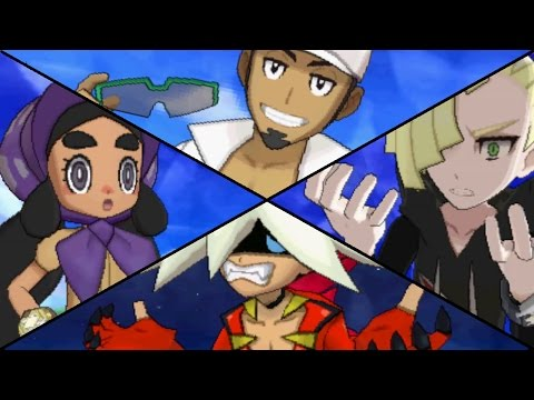 Pokemon Sun & Moon - All Champion Challengers (Title Defense Battles)