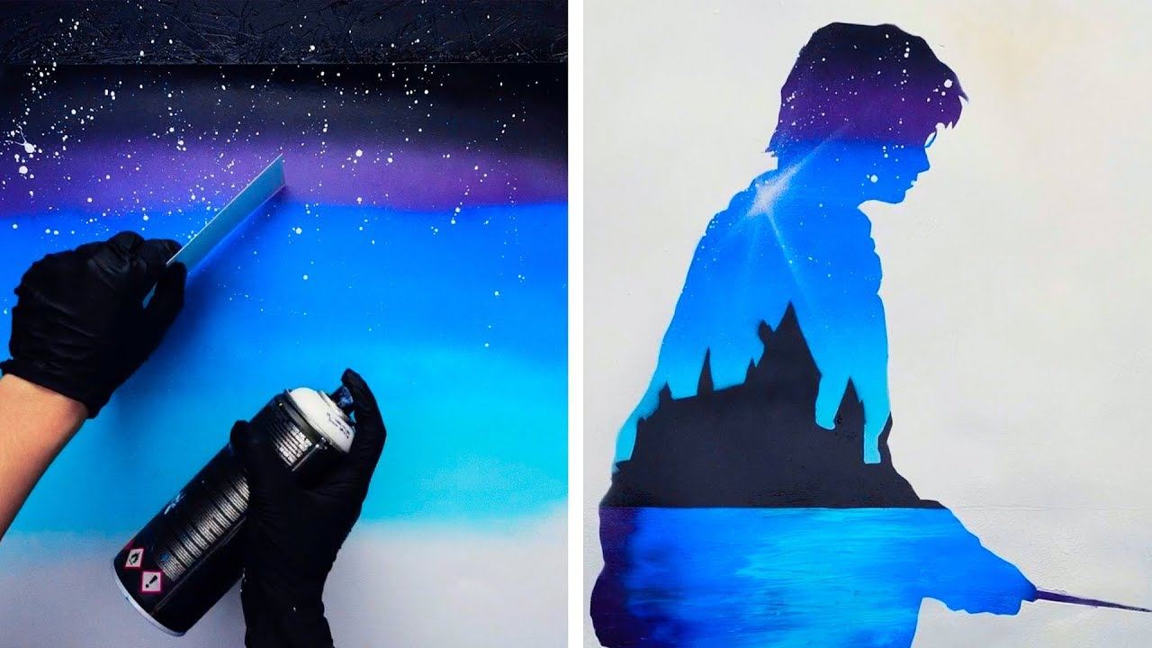 15 UNIQUE AND EASY SPRAY PAINTING IDEAS - YouTube