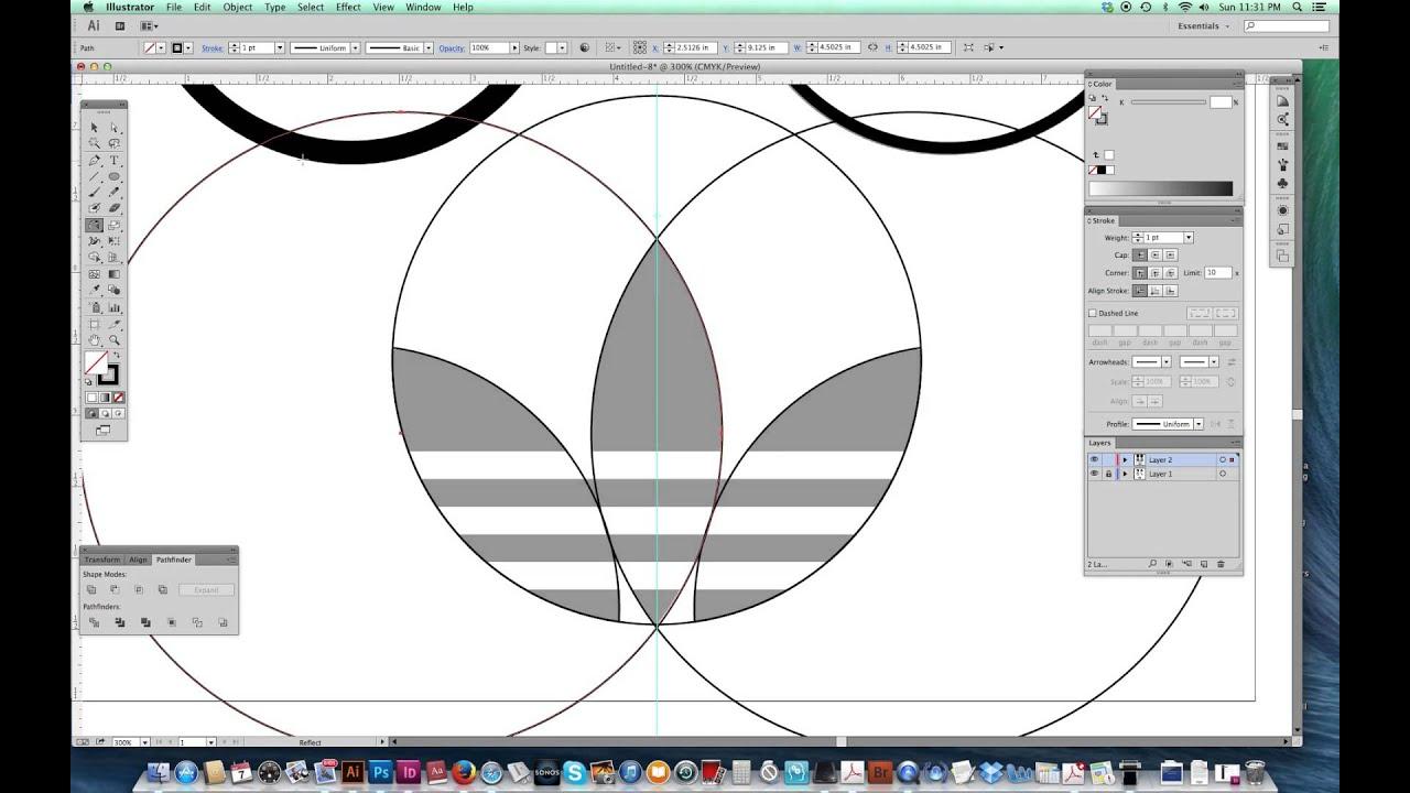 logo adidas vectorizado illustrator