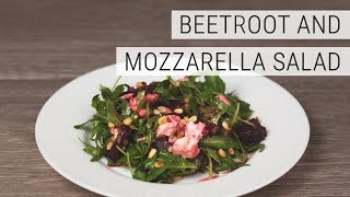 How to make Arugula salad w/ Beet and Mozzarella (ASMR)
