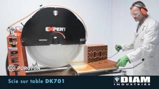 SCIE SUR TABLE Ø700 220V vidéo