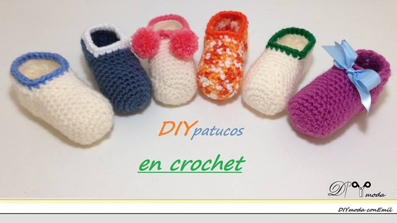 Crochet Tutorial Zapatos Bebe : Como tejer zapatitos o patucos de bebE en crochet - YouTube