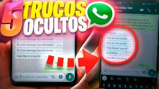 5 TRUCOS ESCONDIDOS de WHATSAPP!!!