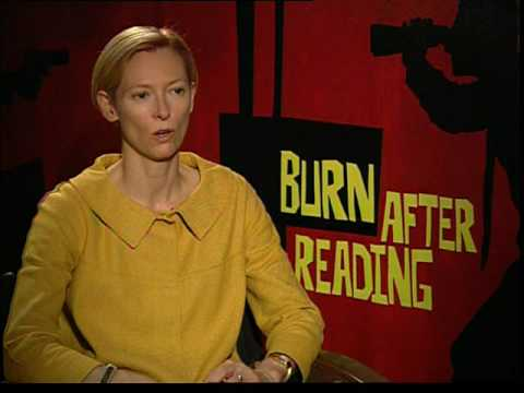 Tilda Swinton interview for The Burn After Reading in HD