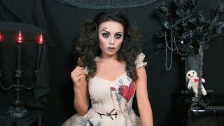 Creepy Stitched Doll Makeup