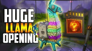 HUGE Birthday LLAMA OPENING! I Can't Believe My LUCK! - Fortnite Save The World