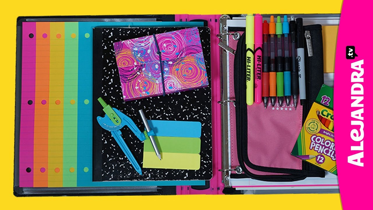 back to school organizing tips binder school notebook