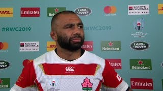 Rugby World Cup   Japan v Scotland   Post-match interview with Michael Leitch