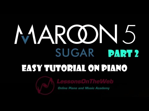 How to Play Sugar Maroon 5 on Piano (Part 2) - Beginner Piano Tutorials for Popular Songs