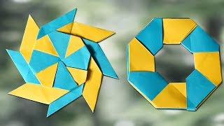 How To Make a Paper Transforming Ninja Star - Paper Origami - Simple Crafts