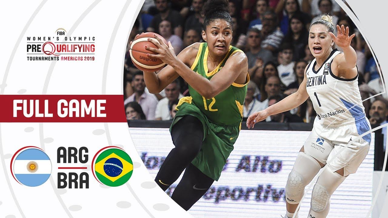 Argentina v Brazil - Full Game - FIBA Women's Olympic Pre