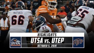 After putting up 10 points in the first half, utsa fought off multiple comeback attempts by utep to hold on for a 26-16 victory. catch highlights from sa...