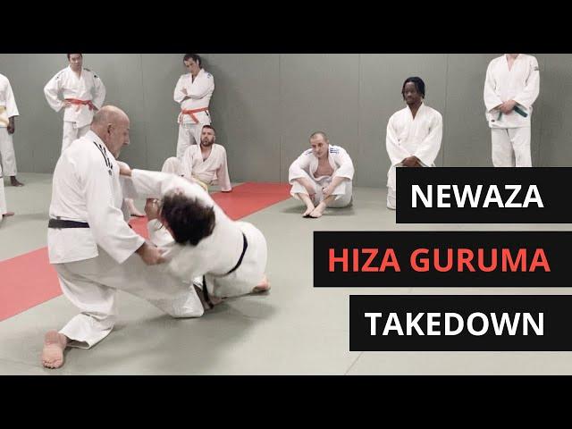 Newaza Hiza Guruma Takedown/sweep