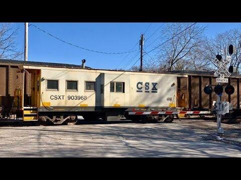 Caboose Passes Loaded Coal Train!