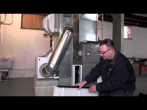 how to replace an air cleaner filter - aprilaire -