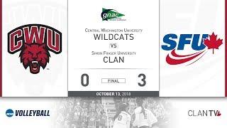 SFU Volleyball vs. CWU - October 13, 2018 thumbnail