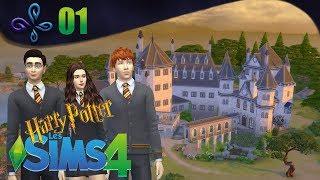 Visite de Poudlard - Harry Potter chez LES  SIMS 4 [Fr] #01