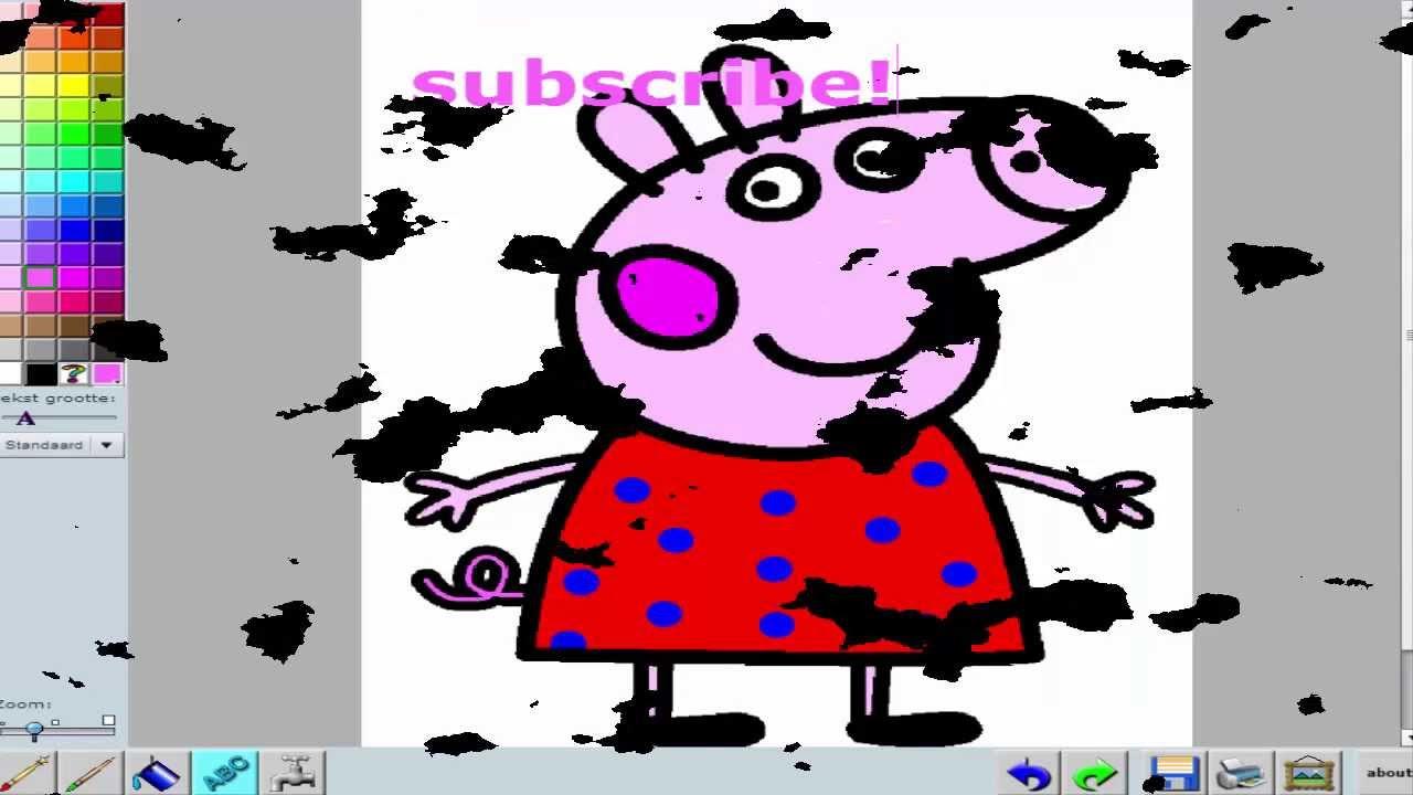 Свинка Пеппа раскраска игра - Peppa pig coloring game ...