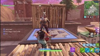 Fortnite *NEW* Shopping Cart With Bounce Pad (Fortnite Battle Royale Gameplay)