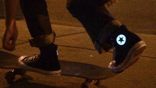 Glowing Chuck Taylor All-Star Sneakers #Adafruit