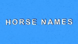 Horse Names - Colton's Super Short Show