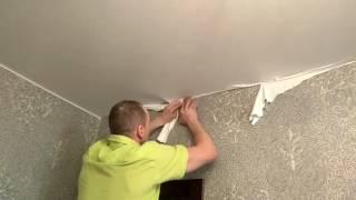 Натяжные потолки ремонт пореза