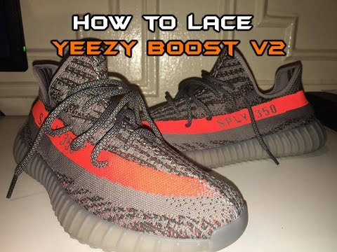 0d0af36d270 3 WAYS TO LACE YEEZY BOOST 350 V2 - YouTube