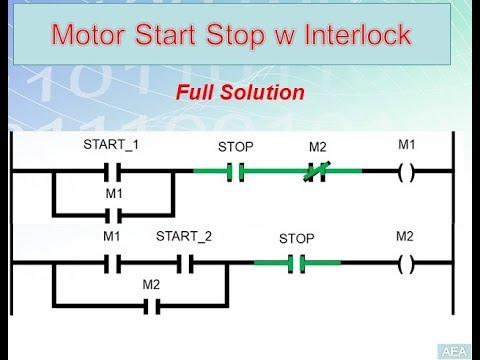 11 Motors Start With Interlock Easy Plc Programming Tutorials For Beginners Youtube