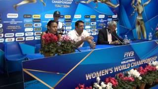 01-10-2014: Press Conference post DOM-BEL Marcos Kwiek (Coach DOM)