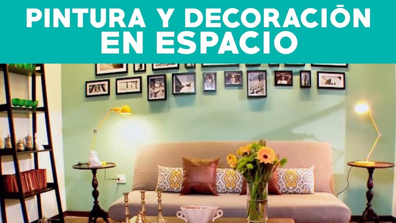 C mo mejorar un espacio con pintura y decoraci n youtube for Como acomodar una sala y comedor en un espacio pequeno