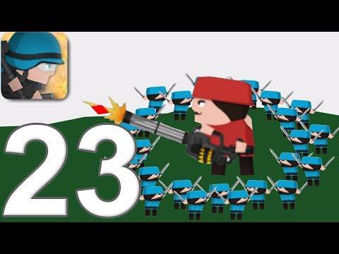 CLONE ARMIES - Walkthrough Gameplay Part 23 - COMMANDO -SANDBOX - (iOS Android)